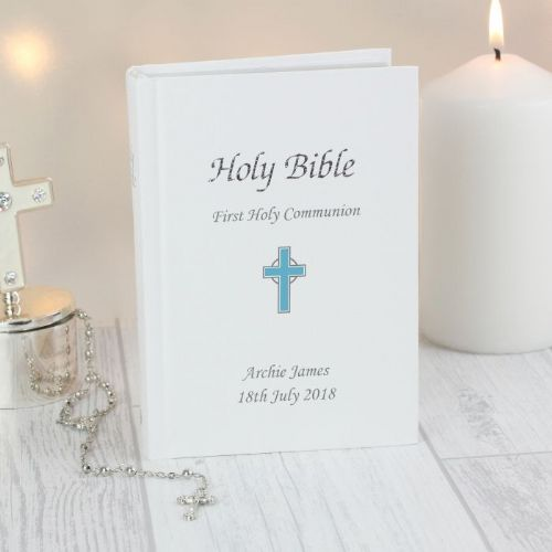 Personalised Blue Cross Bible